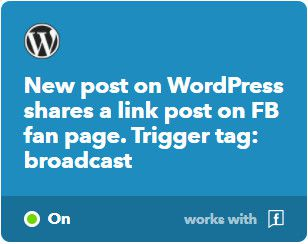 IFTTT module for sharing the WP post