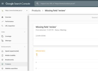 google search missing fields